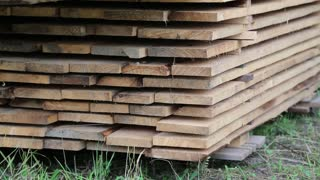 Wooden boards for the building of a wooden house