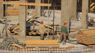 Workers at building site