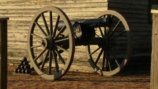Fort Scott Kansas Historic SIte Civil War era Cannon.