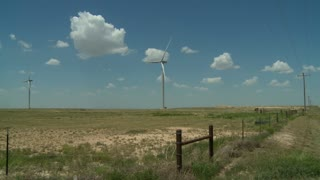 Wind Turbines and Power Lines on the high plains of the Oklahoma panhandle.