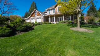 Modern American suburban home approach