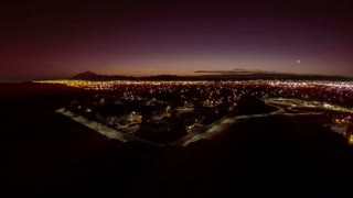 Sunrise time lapse over southwestern suburban neighborhood