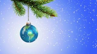Earth Christmas ornament - Peace on Earth concept