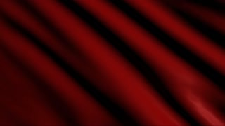 Red satin fabric flowing in the wind; 4k animation