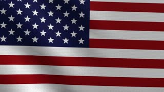 Waving American flag background, loopable
