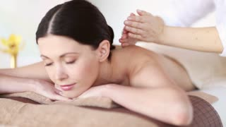 footage of happy woman relaxing in spa salon