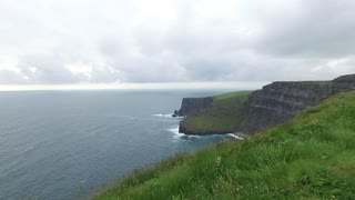 nature and landscape concept - view to cliffs of moher and atlantic ocean shore in ireland