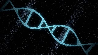 science, genetics and technology concept - 3d rendering of virtual dna molecule over black background
