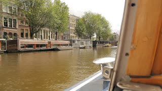 A boat trip on the canals of Amsterdam