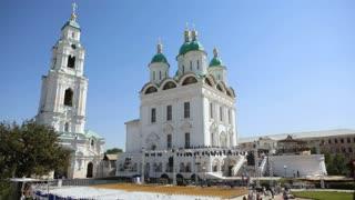 A huge Russian landmark - a white church