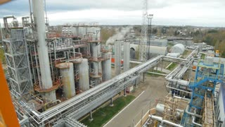 A timelapse of a chemical factory