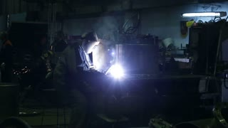A welder at the factory
