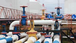 Colored Oil Pipeline