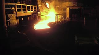 Flying a drone in a smelting factory