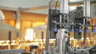 Machines work on the production of plastic products