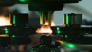 Making of glass medical packaging at the glass-blowing plant