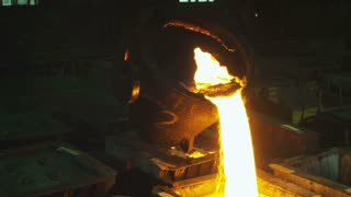 Molten iron at the plant