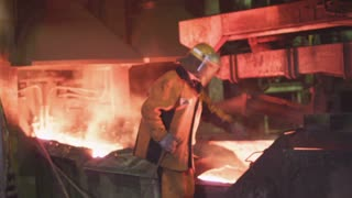 Molten metal at the plant
