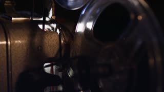 Reels of film in an old projector