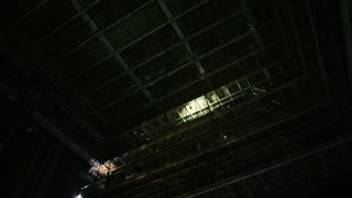 Scaffolding of the scenery in the theatre.