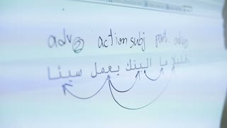 Studying of Arabic language in the classroom