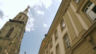 The Bern Minster, a Swiss Reformed cathedral in the old city of Bern
