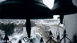 A bell tower in Russia