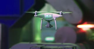 A quadcopter is used in industry