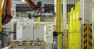 A robotic arm on the manufacturing
