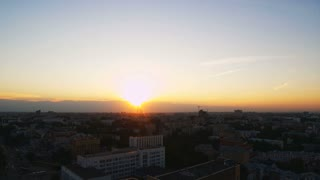 A timelapse of a sunset in a town in Russia