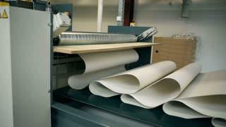 A wallpaper production line.