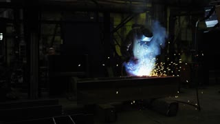 A welder at the plant