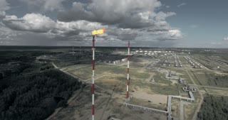 Aerial of a gas-production company