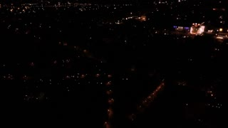 Aerial of fireworks in the sky