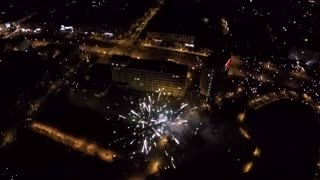 Aerial of fireworks