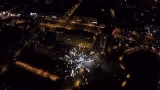 Aerial of fireworks