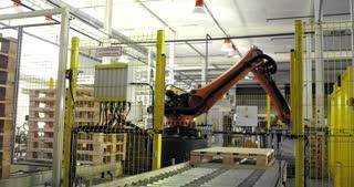 An industrial robot loader