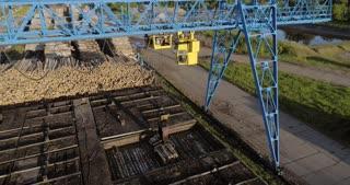 Industrial logging in summer