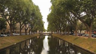 Water channel in Dusseldorf, Germany