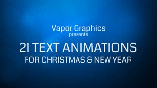 21 TextTemplates For Christmas And New Year (After Effects CS4 and above)