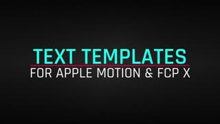 52 Text Animations for Apple Motion & Final Cut Pro X