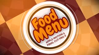 Food Menu: Template for Apple Motion 5 and Final Cut Pro X