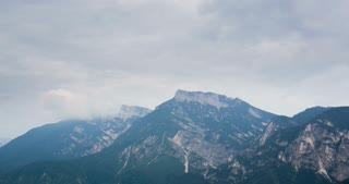 4k time-lapse footage of cloudy weather in the Italian Alps.