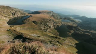 An early morning view over the famous Rila mountain lakes in Bulgaria.