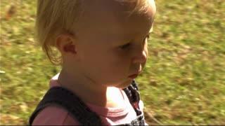 Baby in Park running