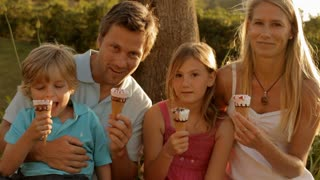family group eating ice cream