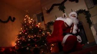 Father Christmas and tree