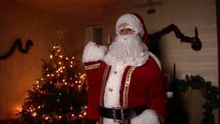 Father Christmas with present sack