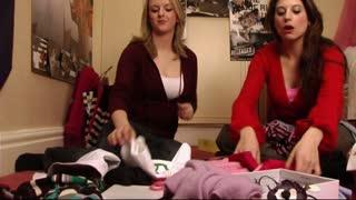 Teenage Girls choosing clothes