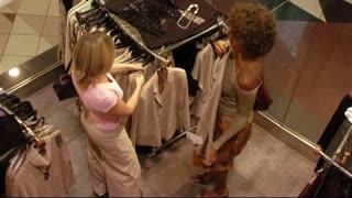 Women shopping in store